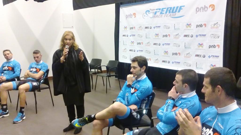 Cristina Tenreiro com Peruf