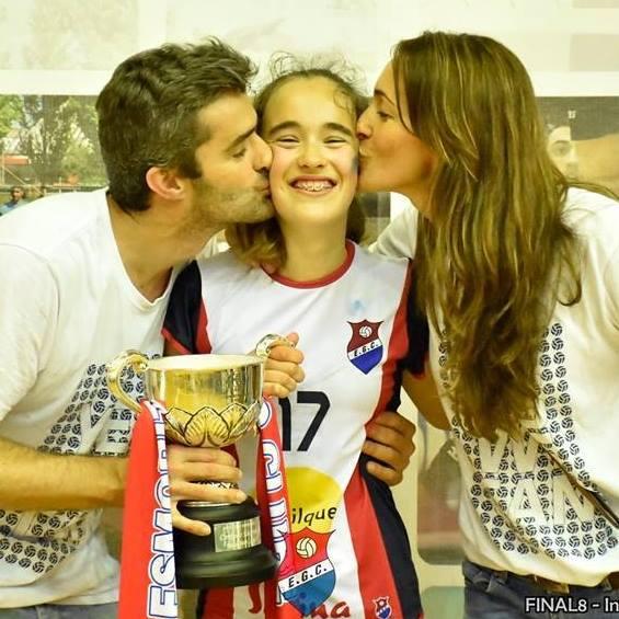 D Filipe Cruz com filha campea nacional